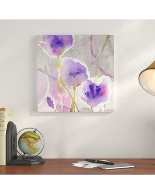 """Charlton Home 'Deep Purple' Painting Print on Wrapped Canvas CRLM1136 Size: 24"""" H x 24"""" W x 2"""" D"""