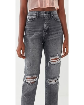 ff3c0d90 BDG BDG High-Rise Slim Straight Jean - Washed Black - Black 29 at Urban  Outfitters from Urban Outfitters (US) | more