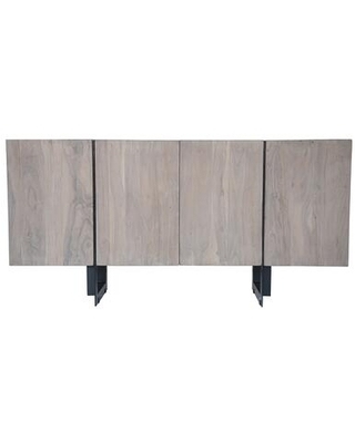 Tiburon Collection SR-1017-29 Sideboard with Iron Base in Gray
