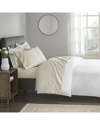 Wrinkle Resistant 400 Thread Count 100% Cotton Sateen Sheet Set