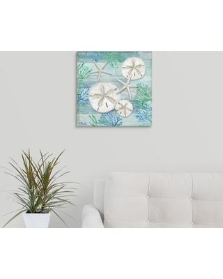"""GreatBigCanvas """"Clearwater Shells I""""by Paul Brent Canvas Wall Art, Multi-Color"""