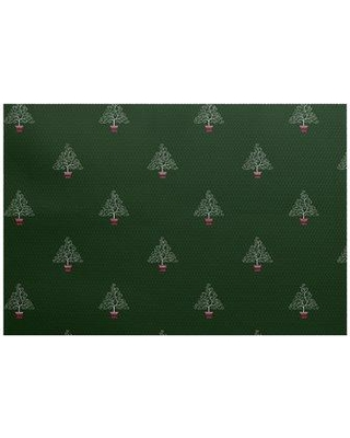The Holiday Aisle Filigree Tree Green Area Rug HLDY7393 Rug Size: Rectangle 2' x 3'