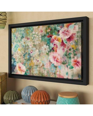 "Bungalow Rose Flower Shower Crop Framed Painting Print BNRS2670 Size: 16"" H x 24"" W x 2"" D"