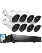 Reolink 4MP 16CH PoE Surveillance Camera System, 8 x Wired Outdoor 1440P PoE IP Cameras, 5MP/4MP Supported 16 Channel NVR Security System w/ 3TB.
