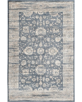 Safavieh Vintage Dark Gray/Cream (Dark Gray/Ivory) 4 ft. x 6 ft. Area Rug