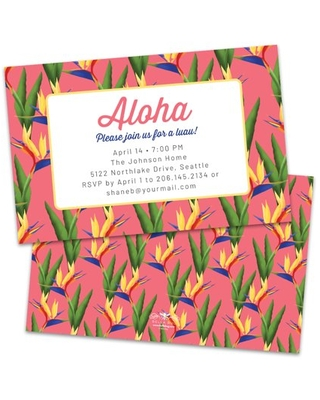 Personalized Tropical Orchids Party Invitation