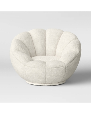 Excellent Amazing Deal On Kids Sherpa Tulip Swivel Chair Cream Bralicious Painted Fabric Chair Ideas Braliciousco