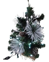 "Queens of Christmas 18"" Decorated Flocked Christmas Tree WL-TRFL18-WC-PW"