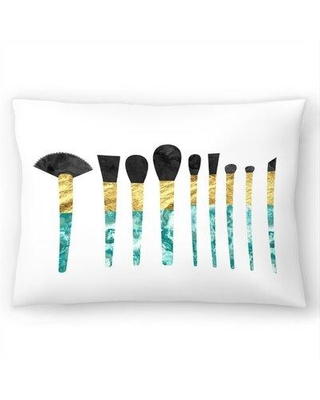 """East Urban Home Marbled Brushes Lumbar Pillow EBIC7241 Size: 14"""" H x 20"""" W"""