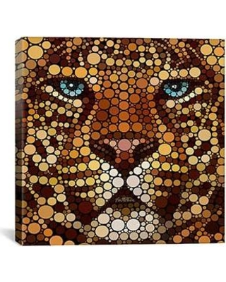 """iCanvas 'Leopard' by Ben Heine Graphic Art on Wrapped Canvas BHE5-01PC3-26X26 / BHE5-01PC3-18X18 Size: 18"""" H x 18"""" W x 0.75"""" D"""