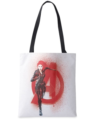 Black Widow Avenger Spray Paint Tote Bag Customized Official shopDisney