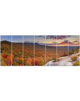 Design Art 'Endless Forests in Fall Panorama' Photographic Print Multi-Piece Image on Canvas PT15112-732