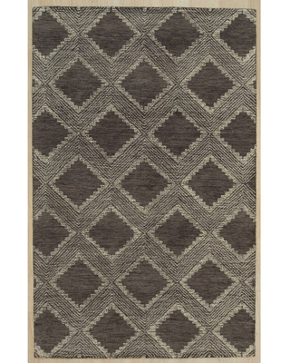 Hand-tufted Wool Charcoal Contemporary Transitional Spring 2020 Rug - 7'6 x 9'6