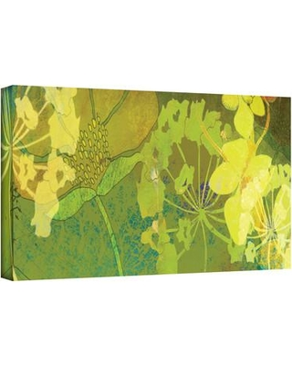 """ArtWall 'Wildflower Shadows Panel' Graphic Art Print on Wrapped Canvas janw-026--w Size: 8"""" H x 24"""" W"""