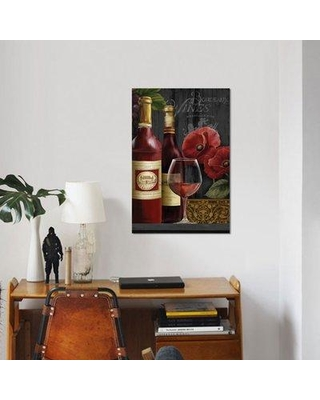 """East Urban Home 'Chateau Wine II' Graphic Art Print on Canvas ESBH6229 Size: 40"""" H x 26"""" W x 1.5"""" D"""