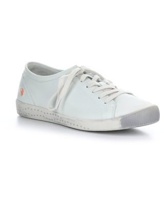 Softinos by Fly London Isla Distressed Sneaker, Size 5.5Us in 534 White Smooth Leather at Nordstrom
