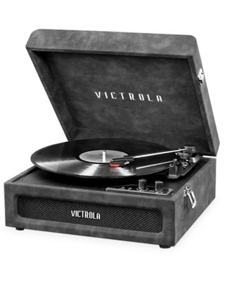 Victrola™ The Brooklyn 3-Speed Bluetooth Stereo Turntable in Grey