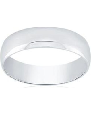 Belk & Co. White Polished Comfort Fit Ring in 10k White Gold