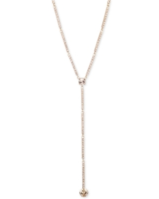 """Givenchy Crystal Lariat Necklace, 16""""' + 3"""" extender"""