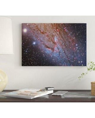 """East Urban Home 'Close-Up Of The Southwest Spiral Arm Of Andromeda Galaxy (M31 )' By Reinhold Wittich Graphic Art Print on Wrapped Canvas EUME7342 Size: 12"""" H x 18"""" W x 0.75"""" D"""