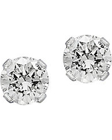 Diamond and 14K White Gold Round Stud Earrings