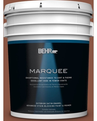 BEHR MARQUEE 5 gal. #S180-7 True Copper Satin Enamel Exterior Paint and Primer in One
