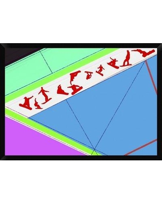 """Naxart 'Flying Boards' Framed Graphic Art Print on Canvas GCF-392012 Size: 30"""" H x 42"""" W x 1.5"""" D"""