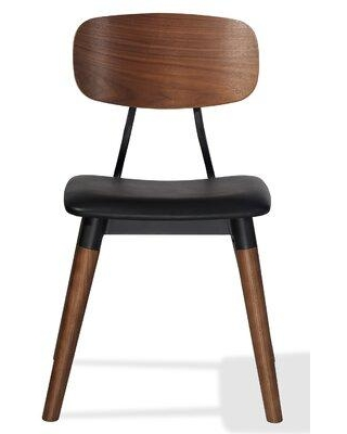 Industrial Modern Esedra Dining Chair Soft Seat ESSOFT-01 Upholstery Color: Black