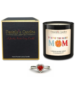 World's Best Mom Jewelry Candle, Lavender, Necklace