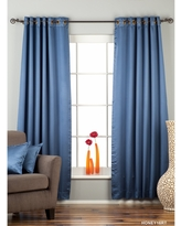 Blue Ring / Grommet Top 90% blackout Curtain / Drape / Panel - Piece (No Lining 80 X 120 Inches (203 X 304 Cms))