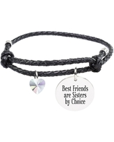 Genuine Adjustable Leather Cord Bracelet - BEST FRIENDS
