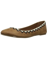Coconuts by Matisse Women's Kissed by Ballet Flat, Tan, 7 M US
