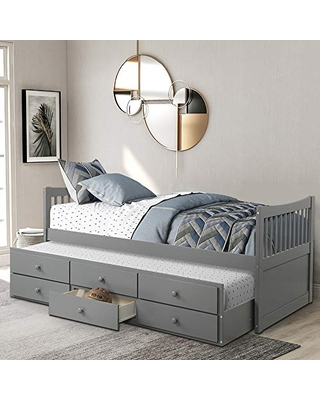 Twin Captain S Bed Storage Daybed
