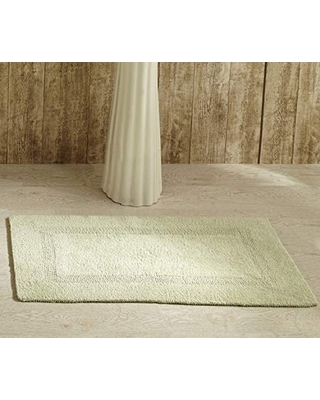 """Better Trends Lux Collection is Ultra Soft Plush and Absorbent Tufted Bath Mat Rug 100 Percent Cotton in Vibrant Colors, 21"""" x 34"""", Sage"""