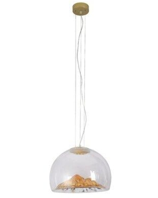 Wrought Studio Landgraf 1-Light Dome Pendant W001082732 Shade Color: Clear/Gold