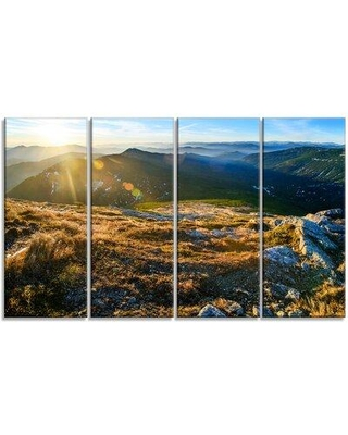 Design Art 'Mountains Glowing in Sunlight' Photographic Print Multi-Piece Image on Canvas PT15450-271