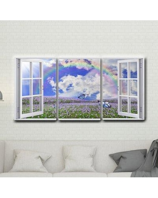 Here S A Great Deal On East Urban Home 3 Piece Wrapped Canvas Graphic Art Print Set Canvas Fabric In Brown Blue Purple Size 30 H X 60 W X 1 D Wayfair