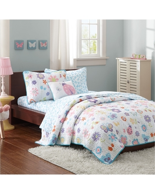 Majestic Mia Quilt and Sheet Set (Full) 8pc, Multicolored