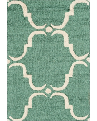 Lina Accent Rug - Teal / Ivory ( 3' X 5' ) - Safavieh , Size: 3'X5', Blue/Ivory