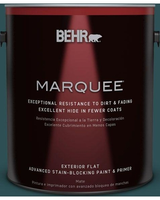 BEHR MARQUEE 1 gal. #ecc-14-3 Otter Creek Flat Exterior Paint and Primer in One
