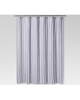 Dyed Shower Curtain Inky Blue Stripe - Threshold