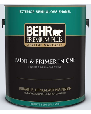 BEHR Premium Plus 1 gal. #ppl-70 Eastern Breeze Semi-Gloss Enamel Exterior Paint and Primer in One