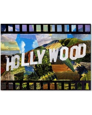 """Trademark Art 'Hollywood' Graphic Art Print on Wrapped Canvas ALI15788-C Size: 14"""" H x 19"""" W"""