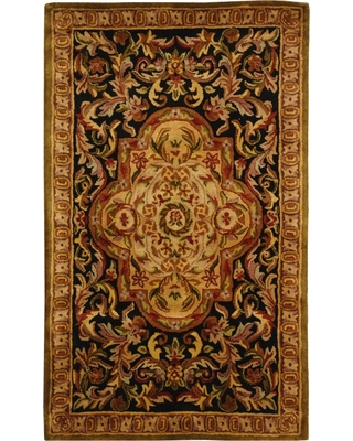 Black/Beige Abstract Tufted Accent Rug - (3'x5') - Safavieh