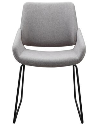 Lisboa Collection HK-1014-29 Dining Chair with Iron Legs in Gray