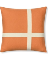 """Cashmere & Wool Equestrian Pillow Cover, 22"""" X 22"""", Orange"""