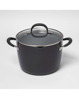 8qt Ceramic Non-Stick Coated Aluminum Stock Pot with Lid - Made By Design