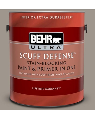 BEHR ULTRA 1 gal. #PPF-31 Pebbled Path Extra Durable Flat Interior Paint & Primer