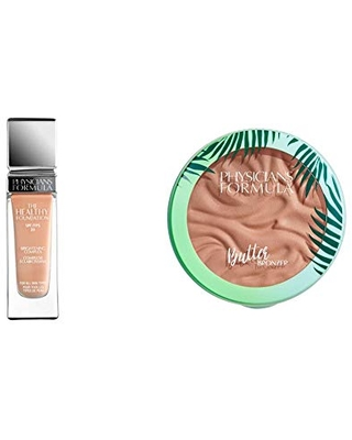 Physicians Formula The Healthy Foundation with SPF 20, LC1, 1 Ounce with Murumuru Butter Bronzer, 0.38 Ounce