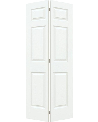 JELD-WEN 30 in. x 80 in. Colonist White Painted Textured Molded Composite MDF Closet Bi-fold Door